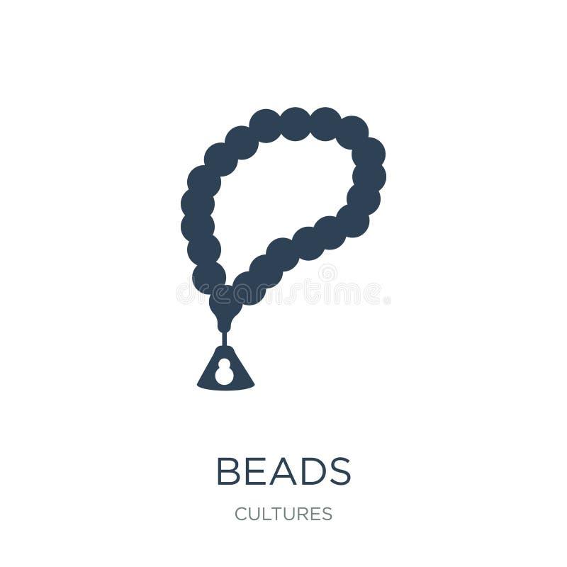 Perlenikone in der modischen Entwurfsart Perlenikone lokalisiert auf weißem Hintergrund einfaches und modernes flaches Symbol der lizenzfreie abbildung