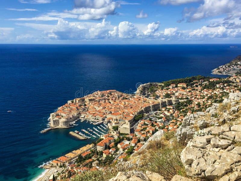 Perlenmittelmeerstadt Dubrovnik lizenzfreies stockfoto