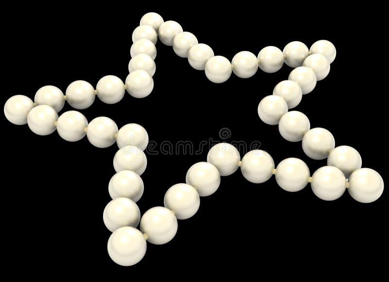 Perlensternform lokalisiert stockfotos