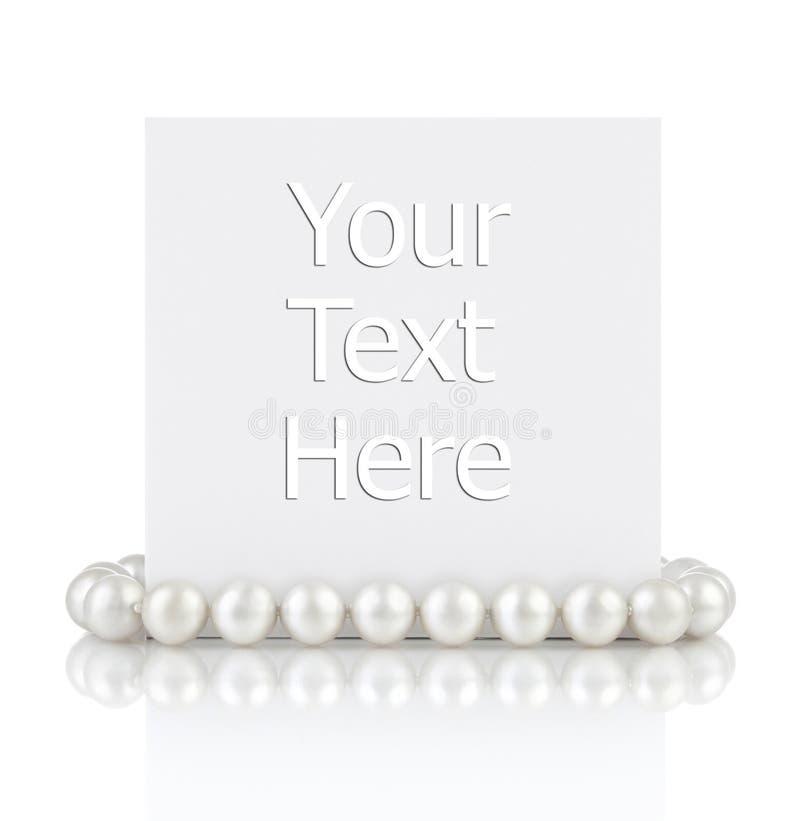 Perles avec la carte vide de cadeau photo stock