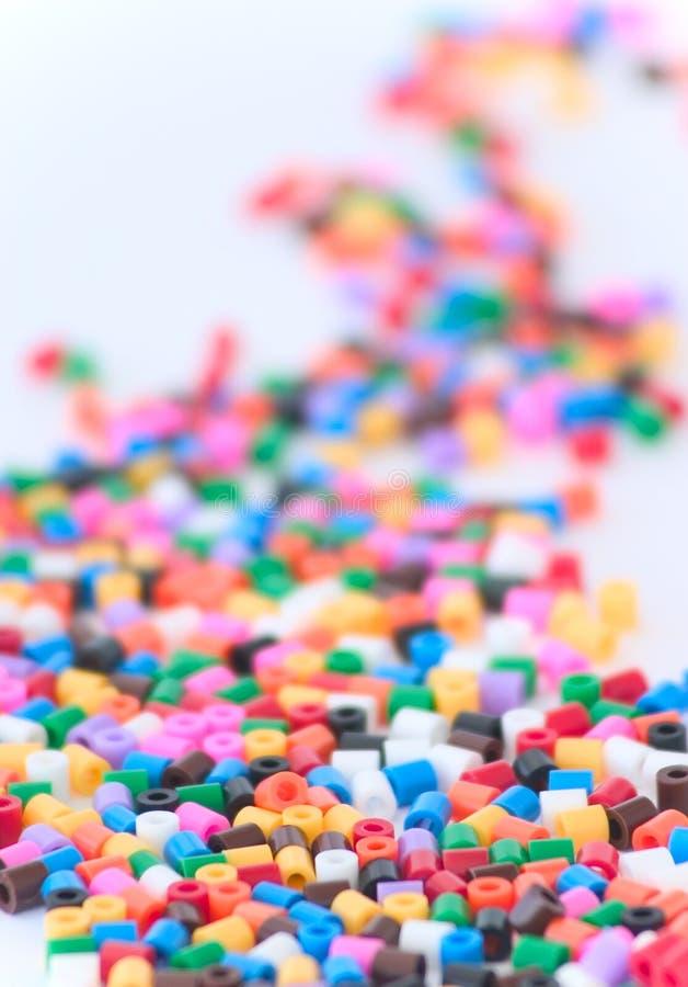 Perles colorées images stock