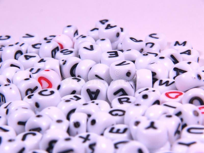Perles de lettre photographie stock