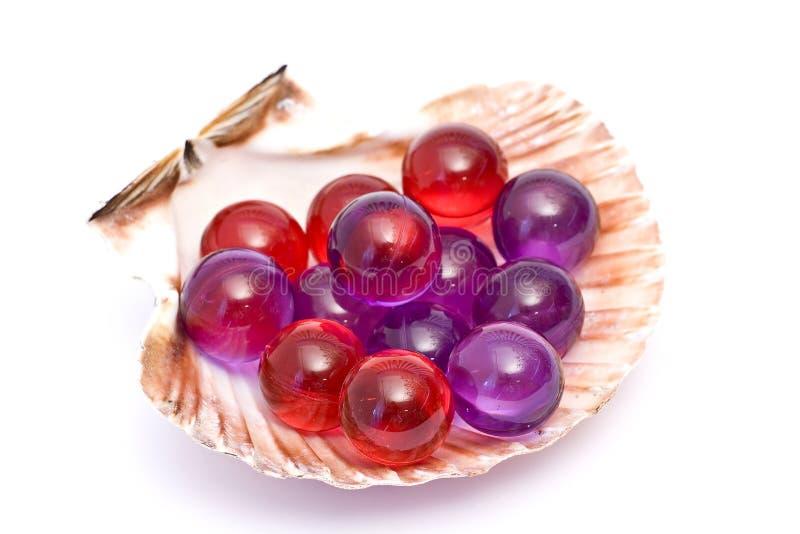 perles de pétrole de bain photo libre de droits