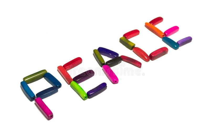 Perles de paix images libres de droits