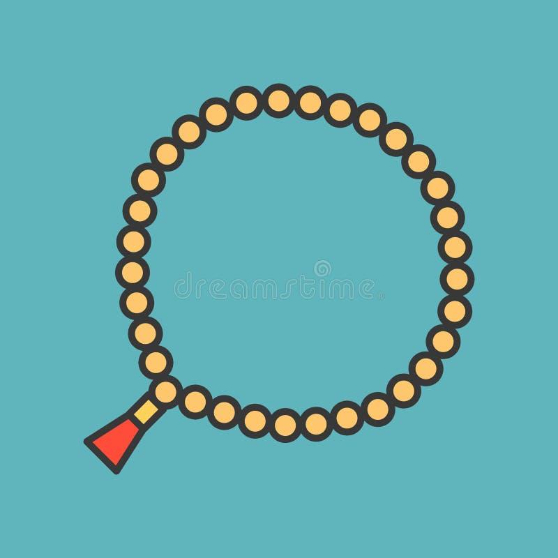 Perles de prière 33 perles illustration libre de droits