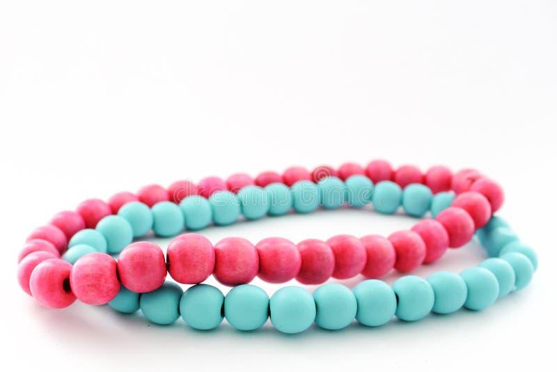 Perles en bois images libres de droits