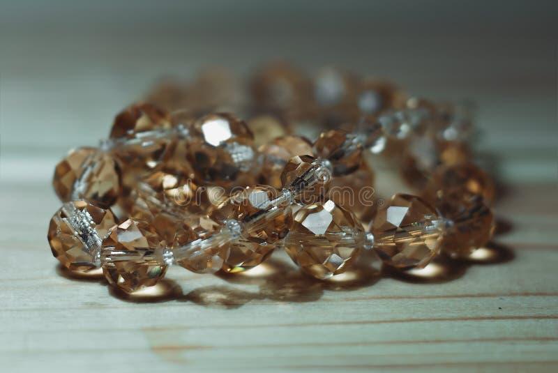 Perles en verre en gros plan photographie stock libre de droits