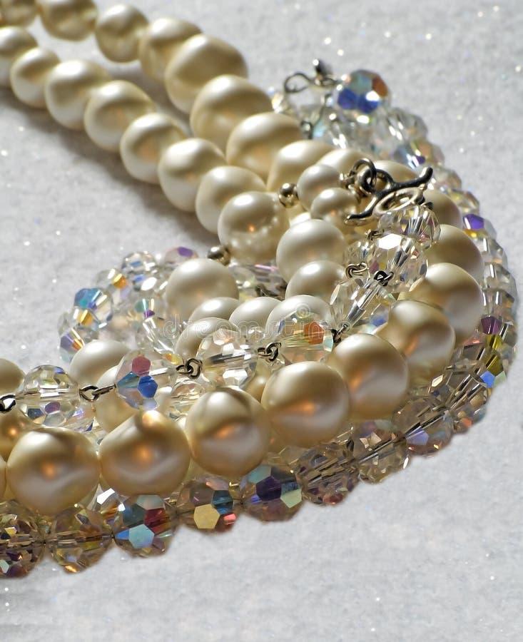 Perles et cristaux photo libre de droits