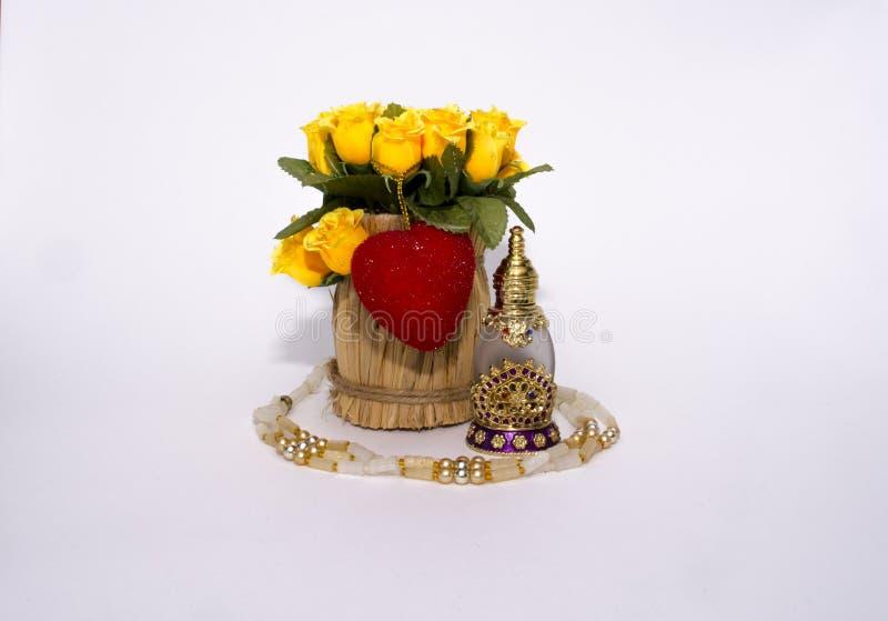 Perles et souvenirs le jour de valentines images libres de droits