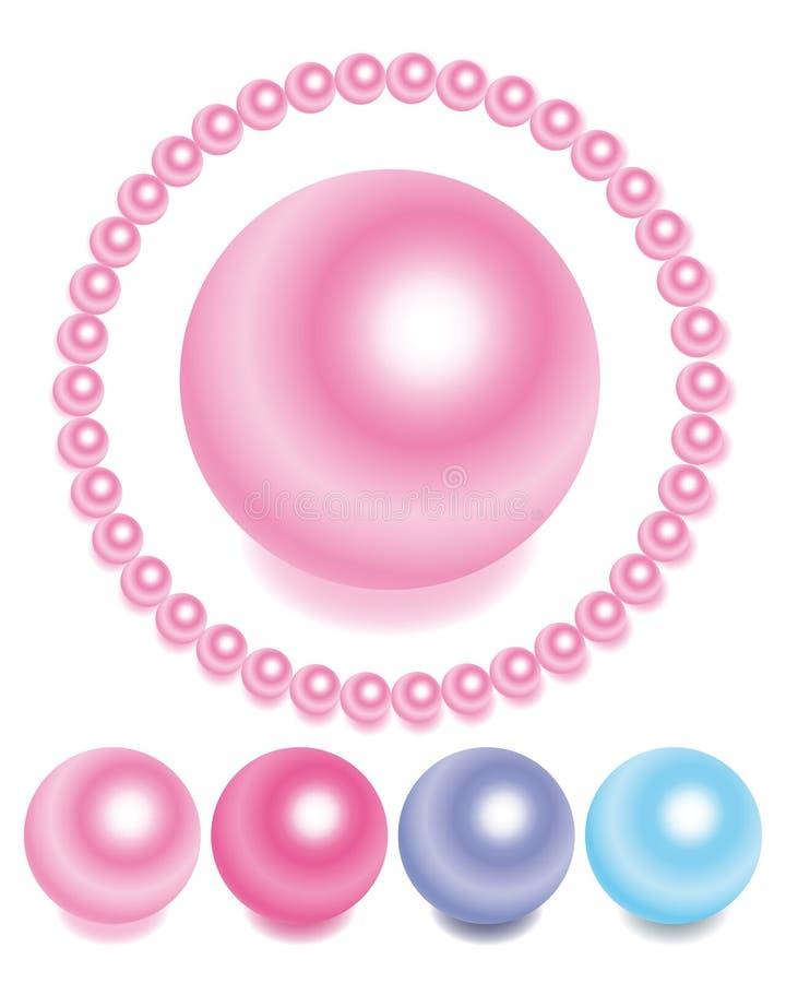 perles réglées illustration stock