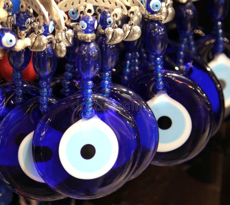 Perles turques d'oeil mauvais de superstition, (perles de Nazar) photo libre de droits