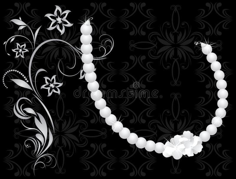 Perlige Halskette stock abbildung