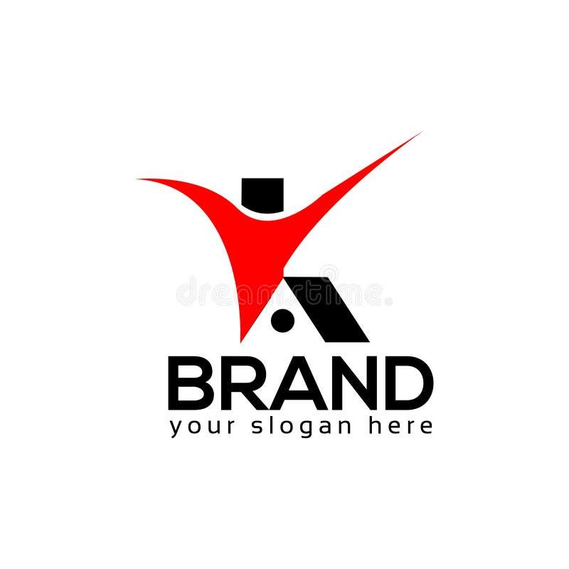People house logo template, flat design. royalty free illustration