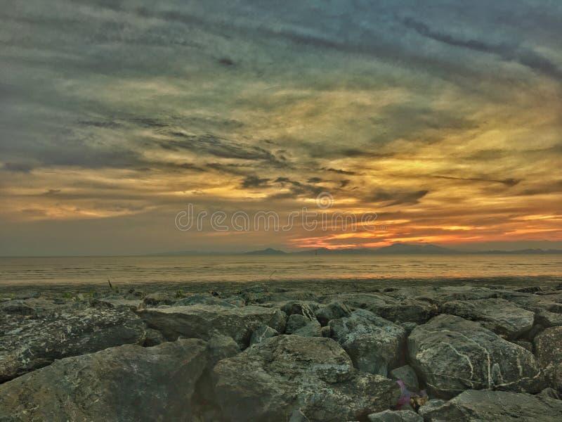 perlis van zonsondergangkuala royalty-vrije stock foto