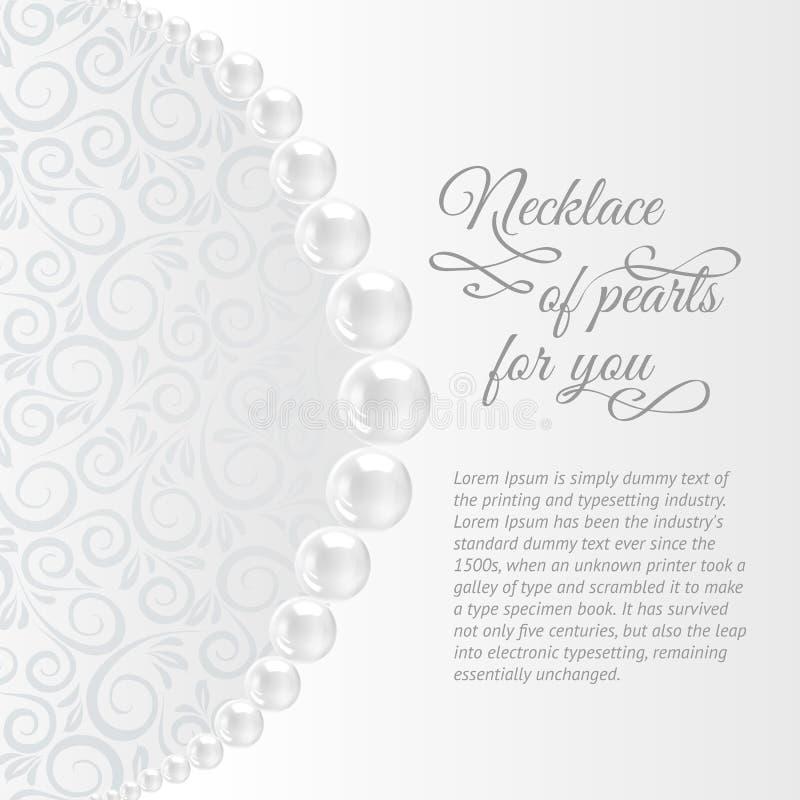 Perls em um fundo branco. ilustração royalty free