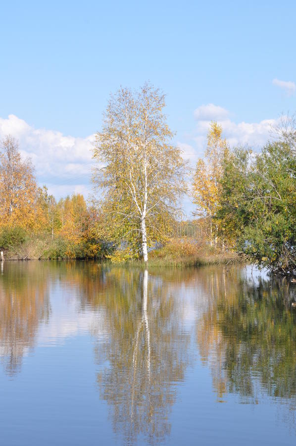 Perm Krai O rio Kama fotografia de stock royalty free