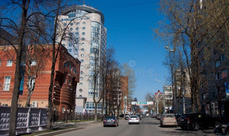Perm, Russia - April 30.2016: City landscape. Lunacharsky`s street stock photos