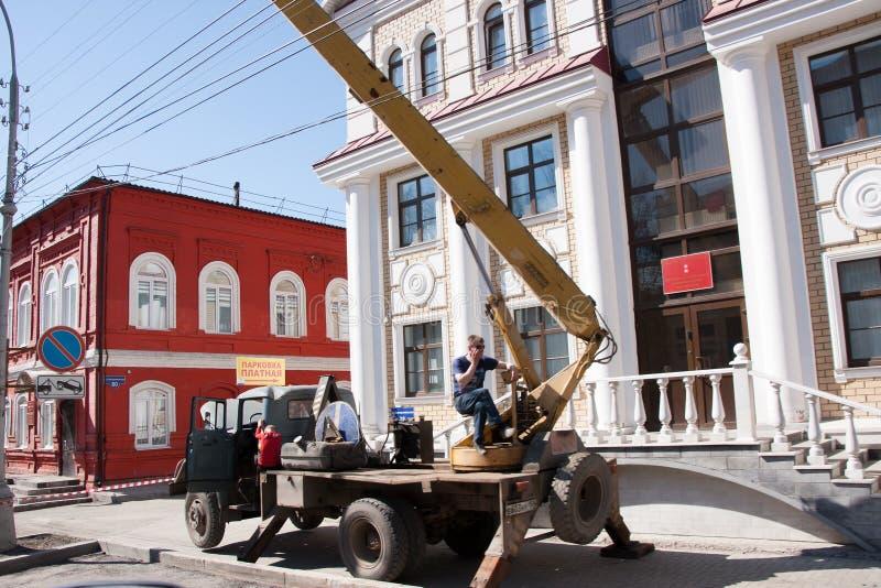 Perm, Russia - 30 aprile 2016: Attrezzatura speciale fotografie stock libere da diritti