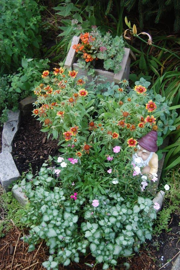 Permaculture Flower Garden Planter stock photo