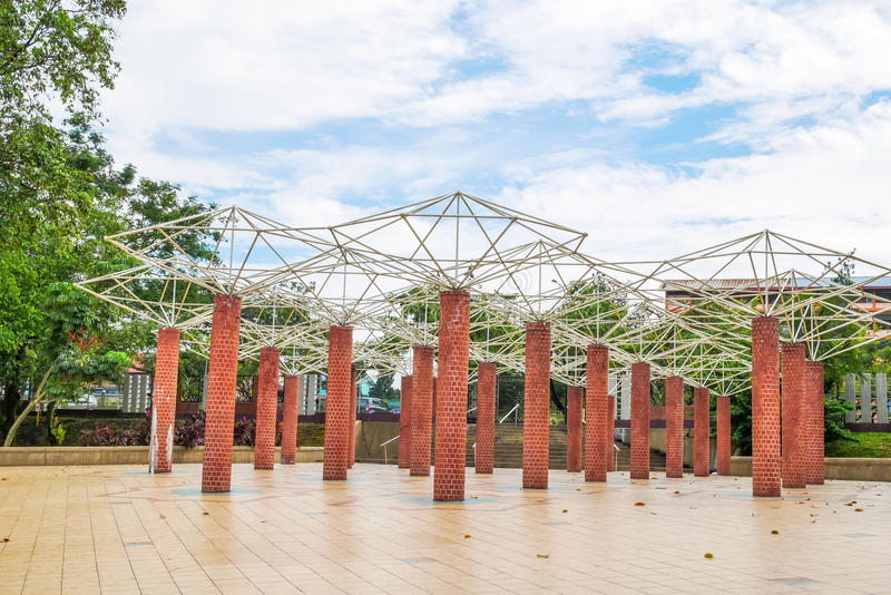 Permaisuri湖庭院是一个著名公园在Cheras 免版税库存图片