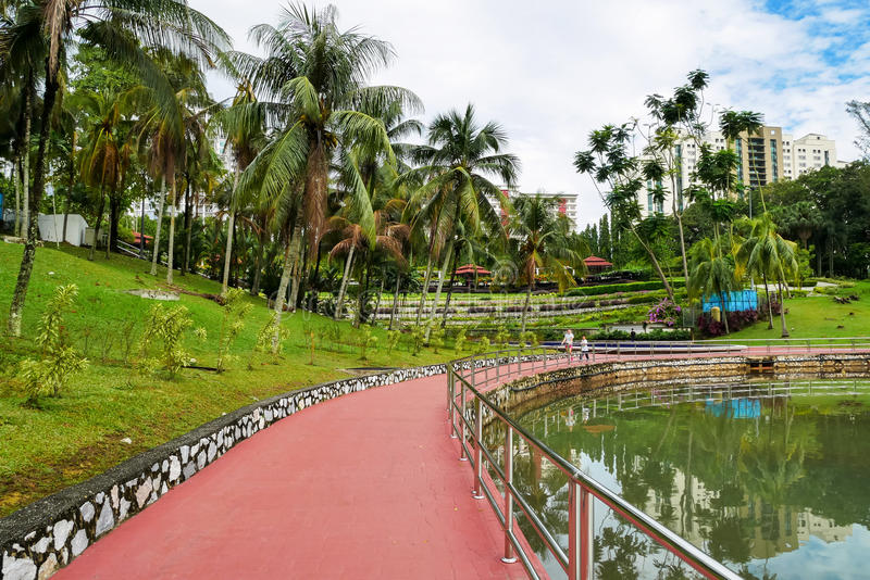 Permaisuri Lake Garden is one of the famous park in Cheras. Cheras,Malaysia - June 27,2017 : Permaisuri Lake Garden is one of the famous park in Cheras, there is royalty free stock photography