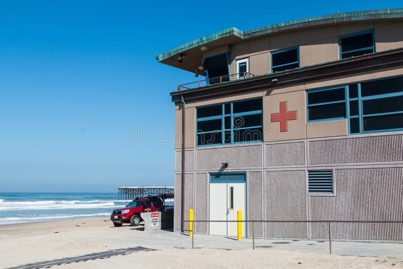 Beach Lifeguard Rescue Station Stock Photo Image Of