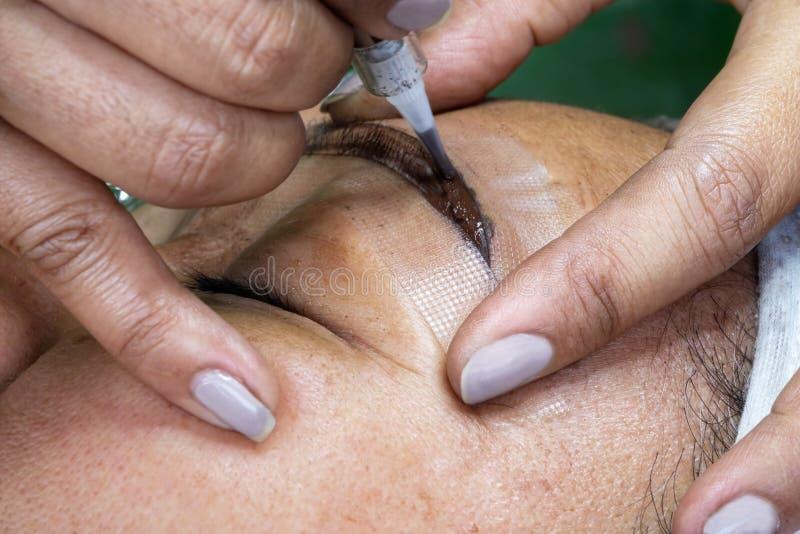 Permanent Make Up stock image