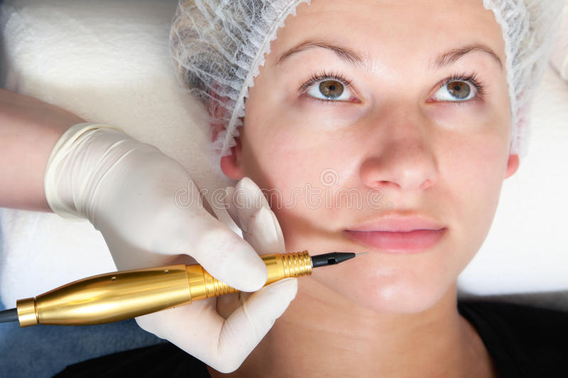 Permanent makeup royalty free stock image