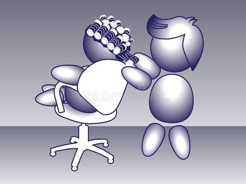 Permanentkrul het schroeven van de het haarwas van de kapperkleurstof het pictogram van het kapselupdo stock illustratie