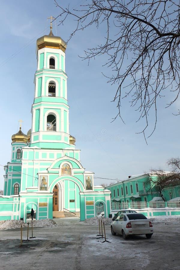 Permanentstad, Ryssland - mars, 4: Domkyrka för helig Treenighet arkivfoto