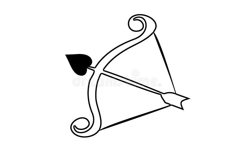 Permettez et cintrez Archer sport professionnel style plat sur le fond blanc photo stock