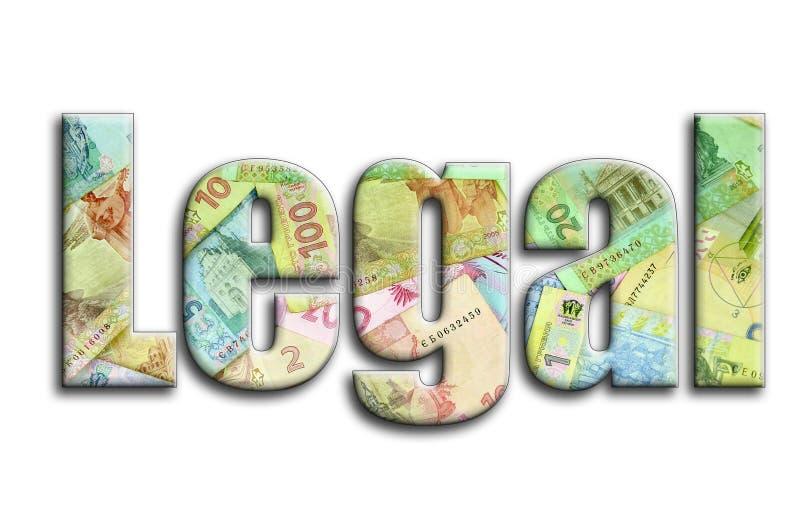 permissible L'inscription a une texture de la photographie, qui dépeint beaucoup de factures d'argent ukrainiennes illustration de vecteur