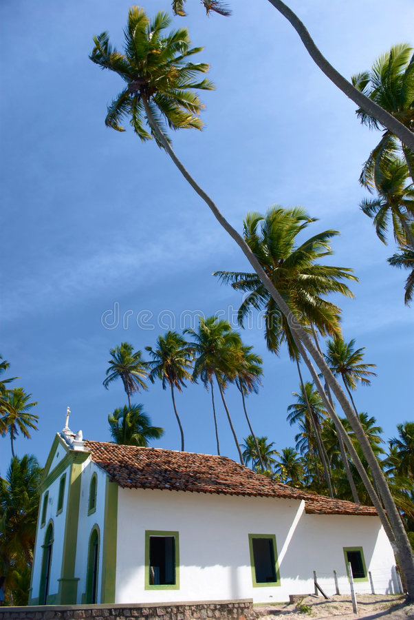 pernambuco εκκλησιών της Βραζιλίας παραλιών τροπικό στοκ εικόνα