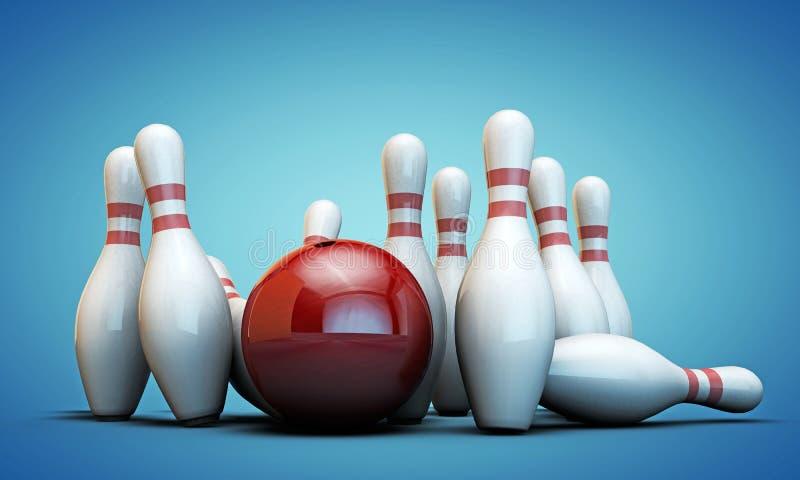 Perni di bowling royalty illustrazione gratis
