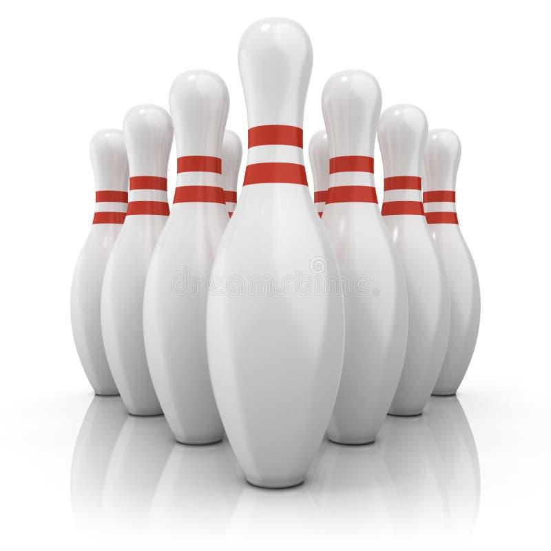 Download Perni Di Bowling Con Le Bande Rosse Front View Illustrazione di Stock - Illustrazione di numero, bowling: 56889628