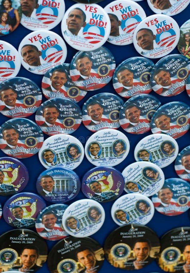 Perni e tasti di Barack Obama fotografia stock libera da diritti