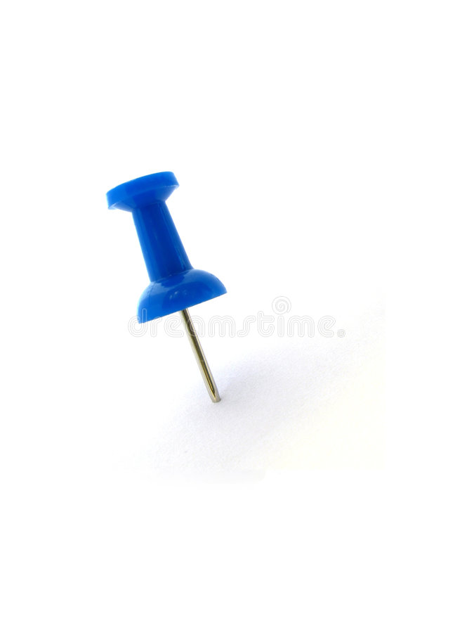 Perno blu immagini stock