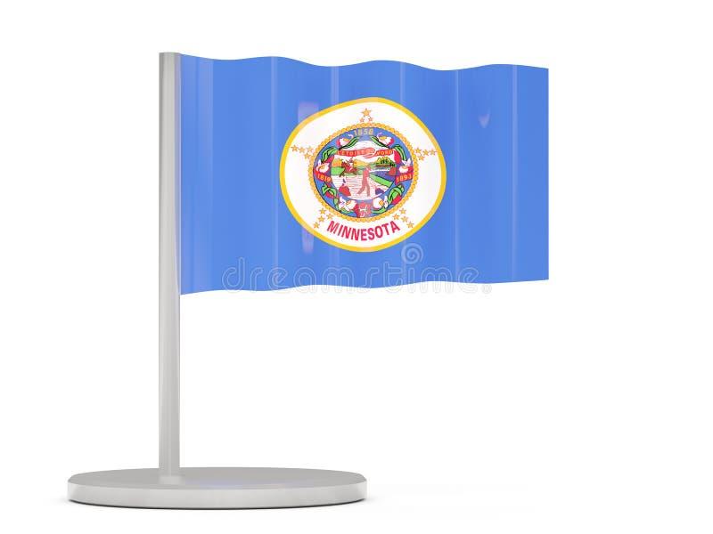 Perno de la bandera con la bandera de Minnesota Banderas del local de Estados Unidos libre illustration