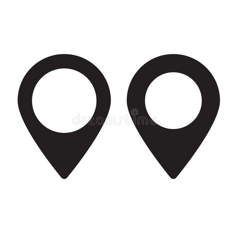 Perno de los mapas Icono del mapa de ubicación fotos de archivo libres de regalías