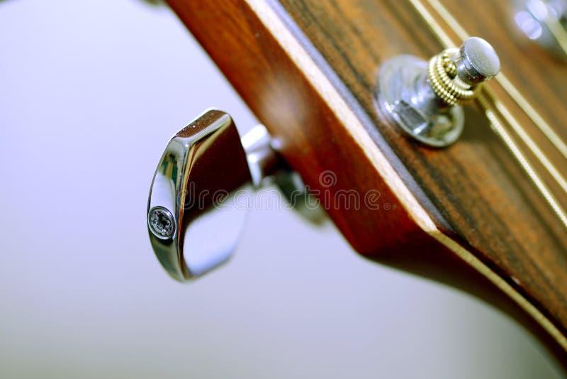 Perno de metal de la guitarra foto de archivo libre de regalías