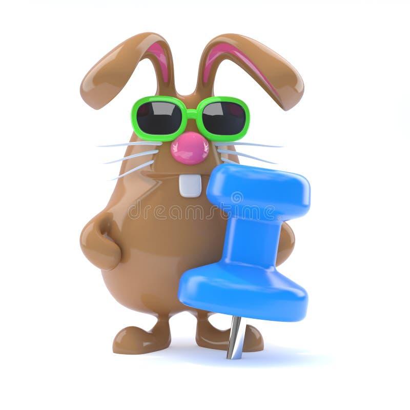 perno del coniglietto 3d illustrazione vettoriale