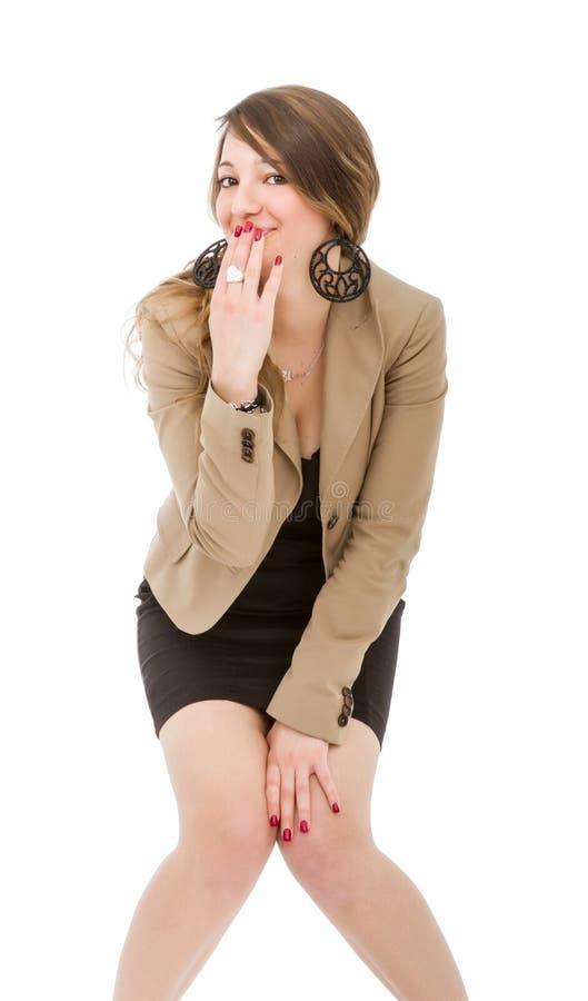 Perno della donna sull'espressione immagine stock