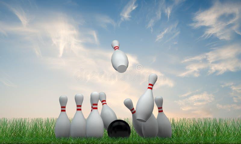 Perno di bowling illustrazione di stock