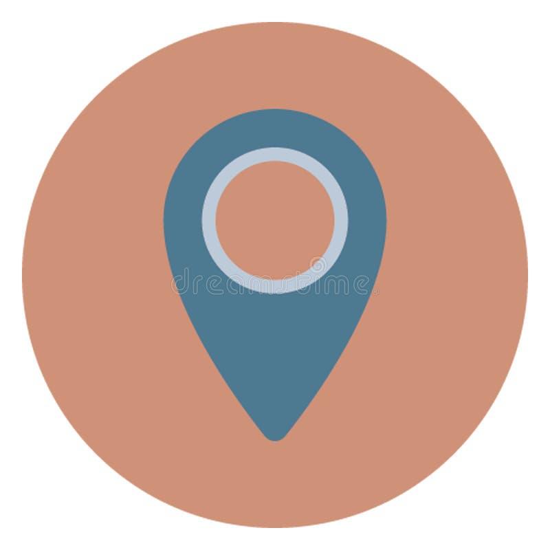 Perno di indirizzo, icona di vettore isolata puntatore di posizione che può essere pubblicata facilmente illustrazione vettoriale