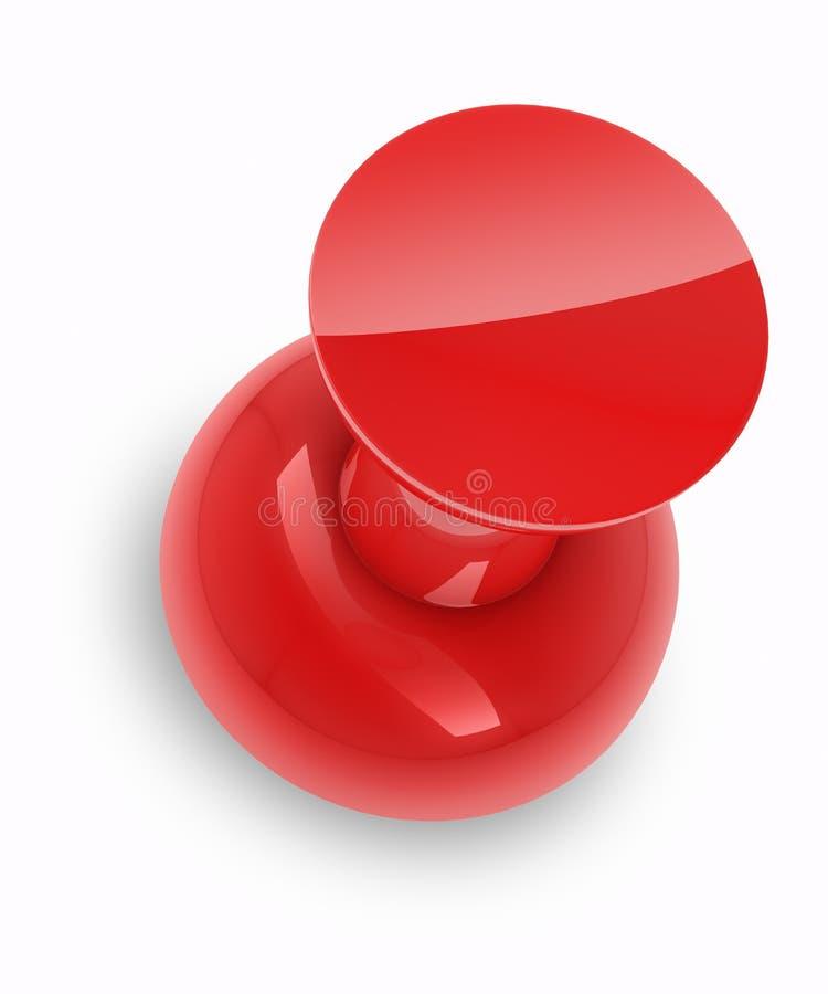 Perno rojo del empuje ilustración del vector