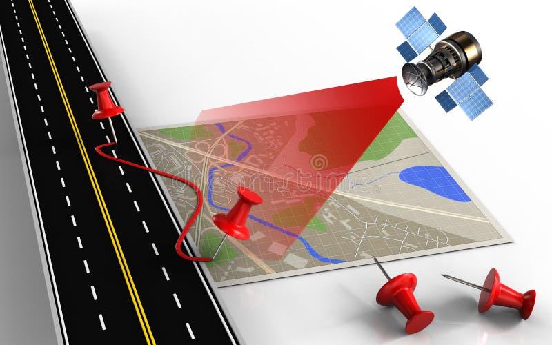 pernos 3d y ruta stock de ilustración