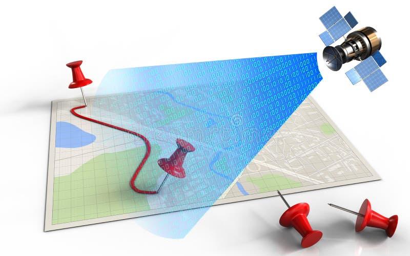 pernos 3d y ruta libre illustration
