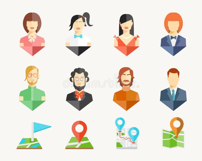 Pernos del avatar de la gente ilustración del vector