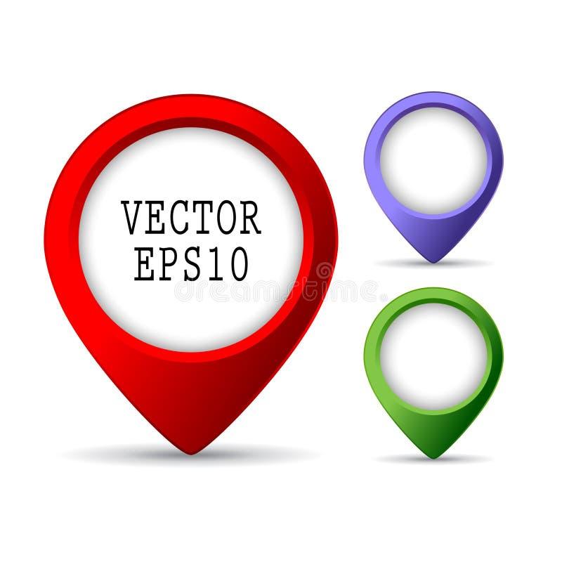 Pernos del mapa ilustración del vector