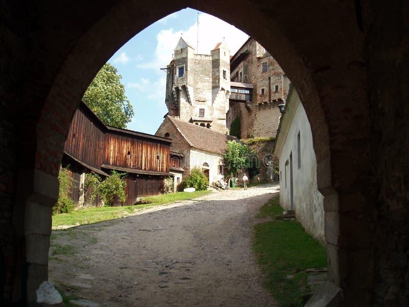 Pernstejn del castello fotografia stock libera da diritti